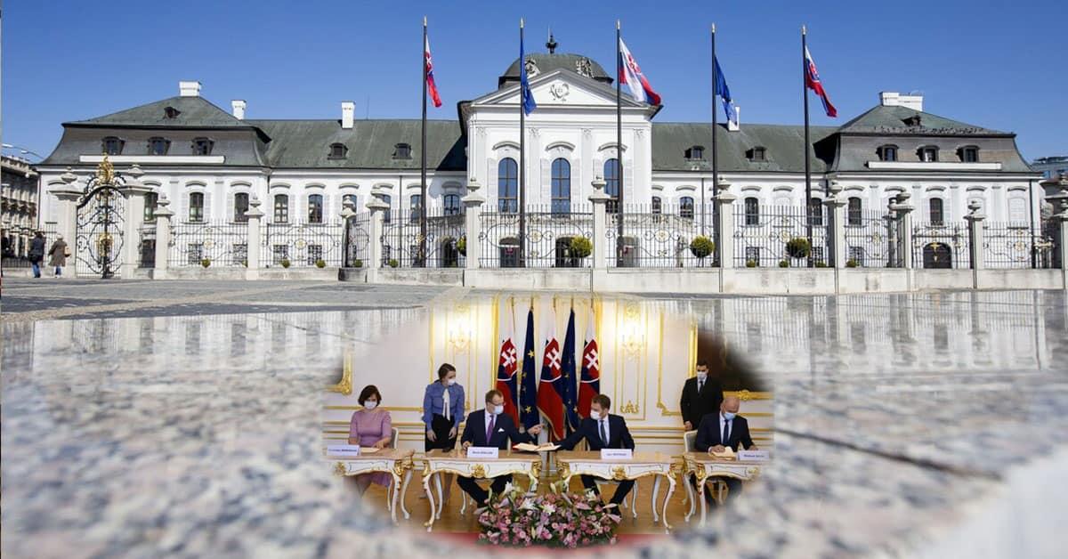 Nová vláda - podpis zmlúv