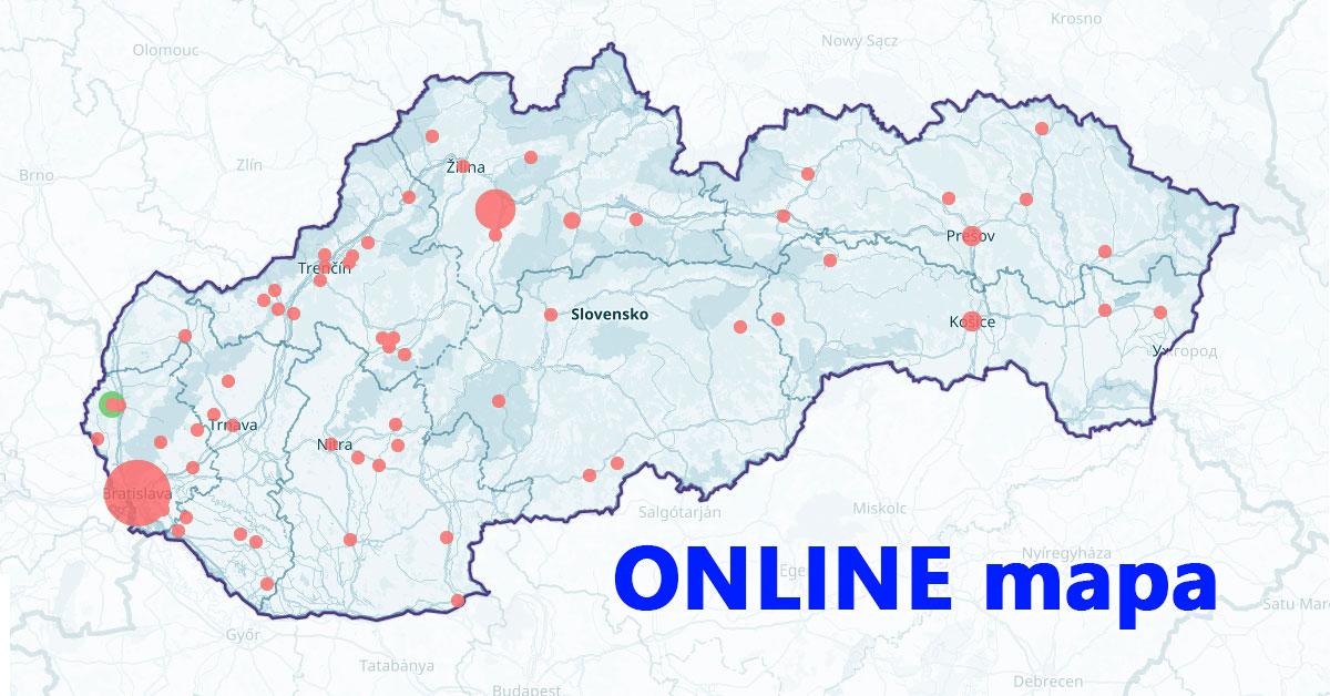 Online mapa COVID-19