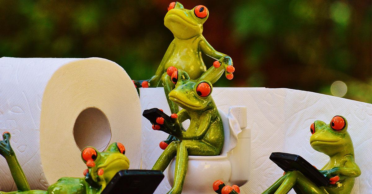 Žabky na wc