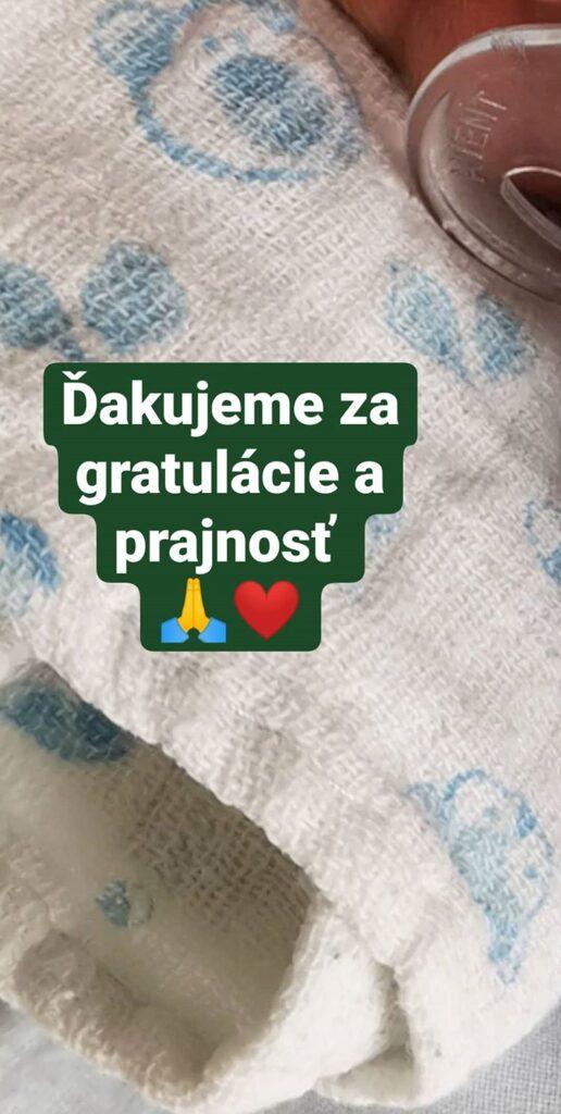 Andrea Šprochová - Ďakujeme za gratulácie a prajnosť - Instagram.com