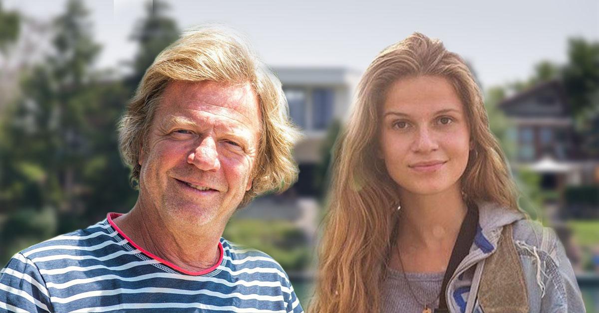 Maroš Kramár a dcéra Tamara pred vilou