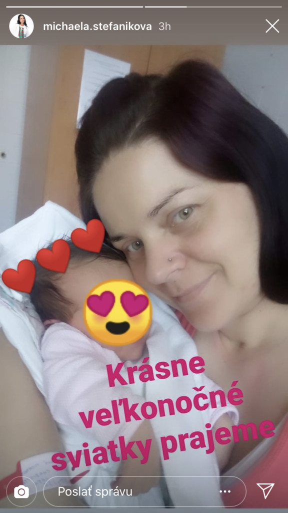 Michaela Štefániková a bábätko