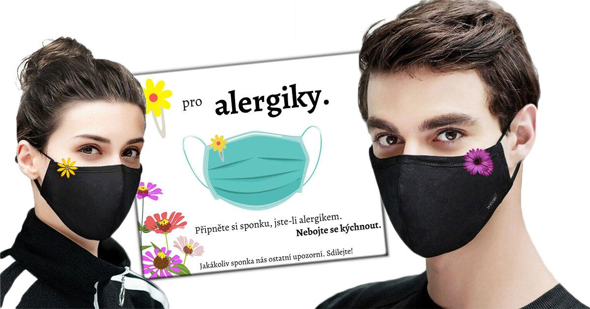Výzva - rúško s kvetom pre alergikov a astmatikov