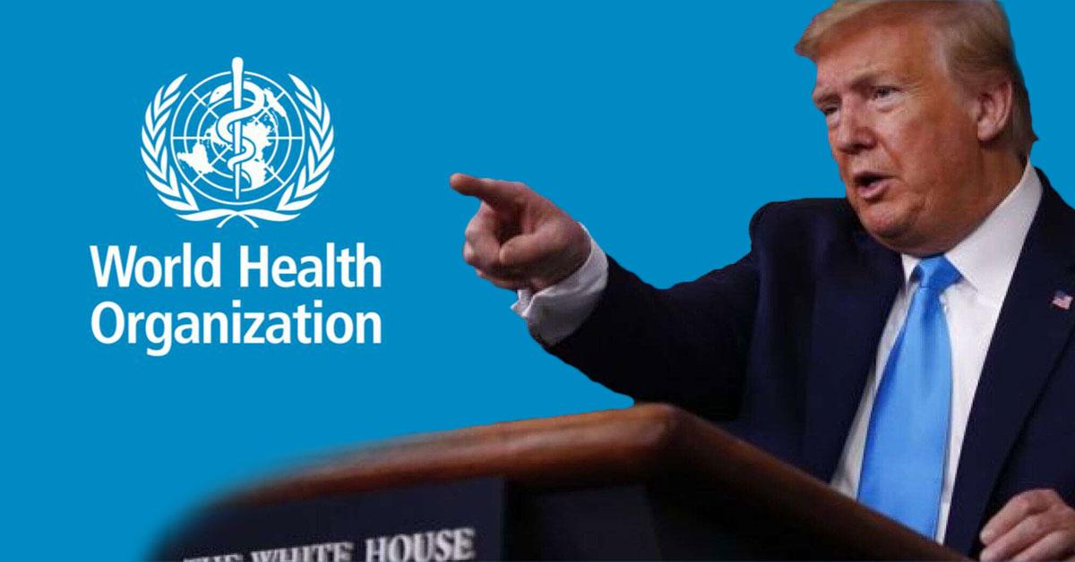 Donald Trump kritizuje WHO