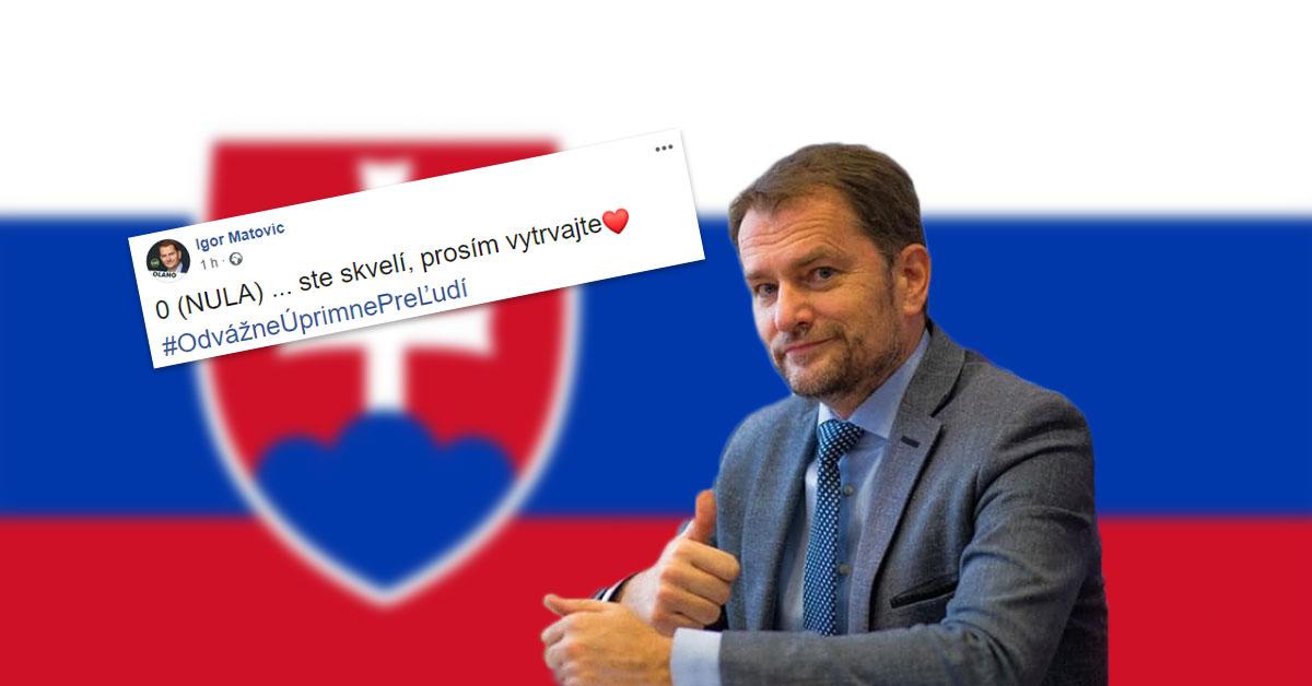 Spokojný Igor Matovič