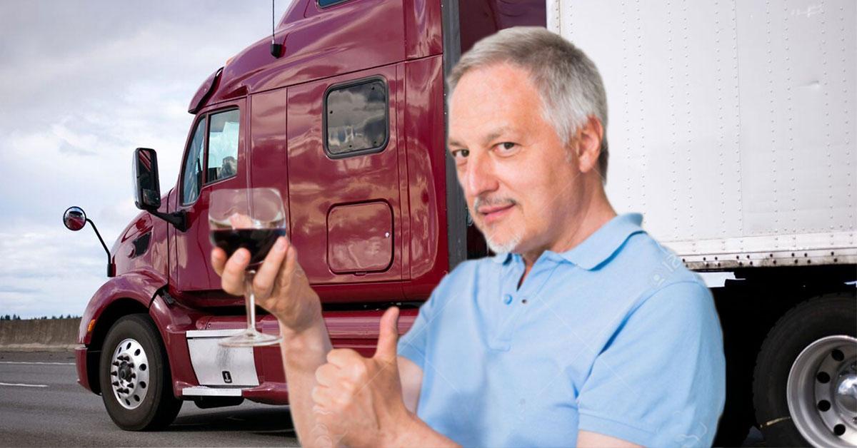 Muž pil víno z cisterny