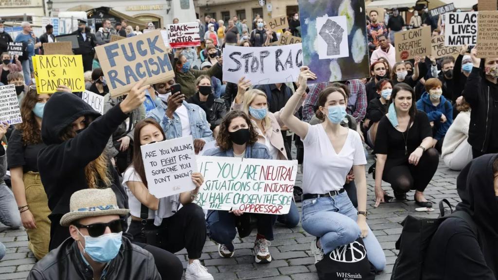 Demonštrácia v Prahe - Georg Floyd