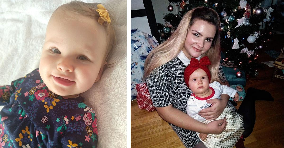 Malá Lívia s mamou