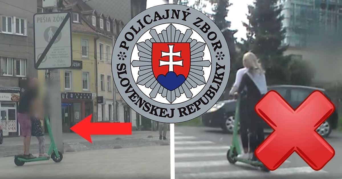 Odkaz pre kolobežkárov od Polície