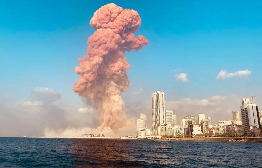 Výbuch v libanonskom Bejrúte, Foto: Profimedia.cz