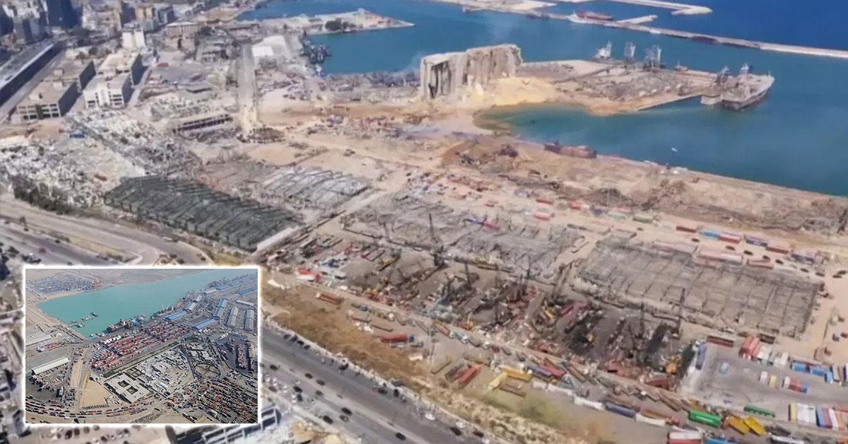 Nové letecké zábery zničeného Bejrútu a prejezd ulicami mesta, Foto: AP/Reuters
