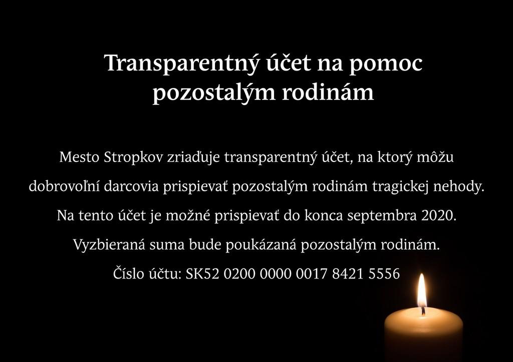 Transparentný účet Stropkov