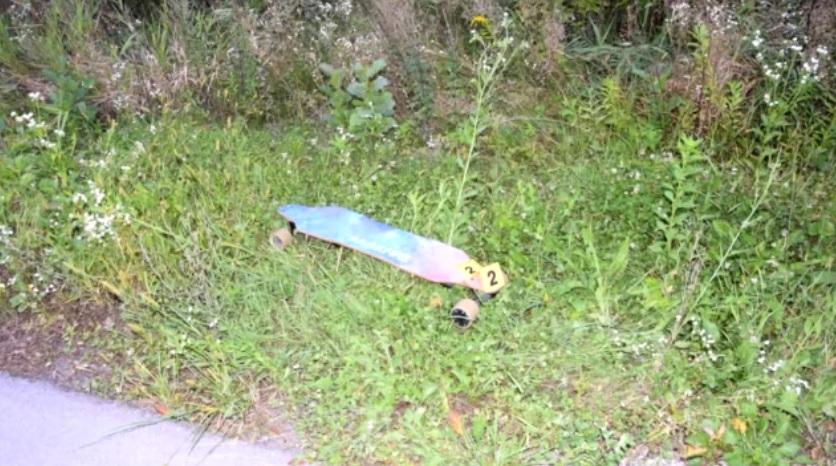 Skateboard na ktorom sa nehoda stala