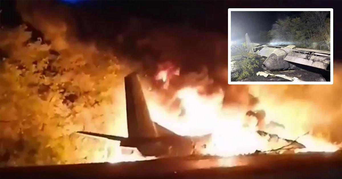 Pád lietadla na Ukrajine