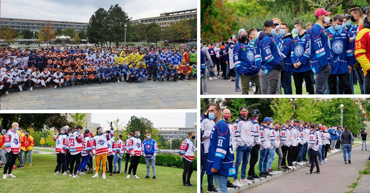 Protest hokejistov