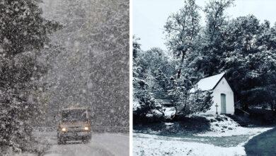 Photo of Dnes Rakúsko a Česko prekvapil prvý sneh, vyzerá to ako v januári