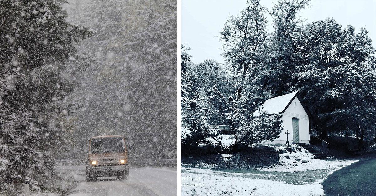 Prvý sneh v Rakúsku a Česku