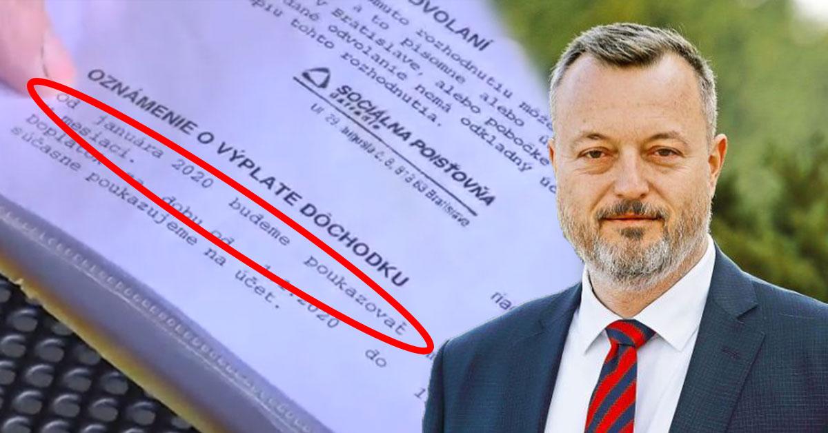 Minister Krajniak chce zmraziť dôchodky