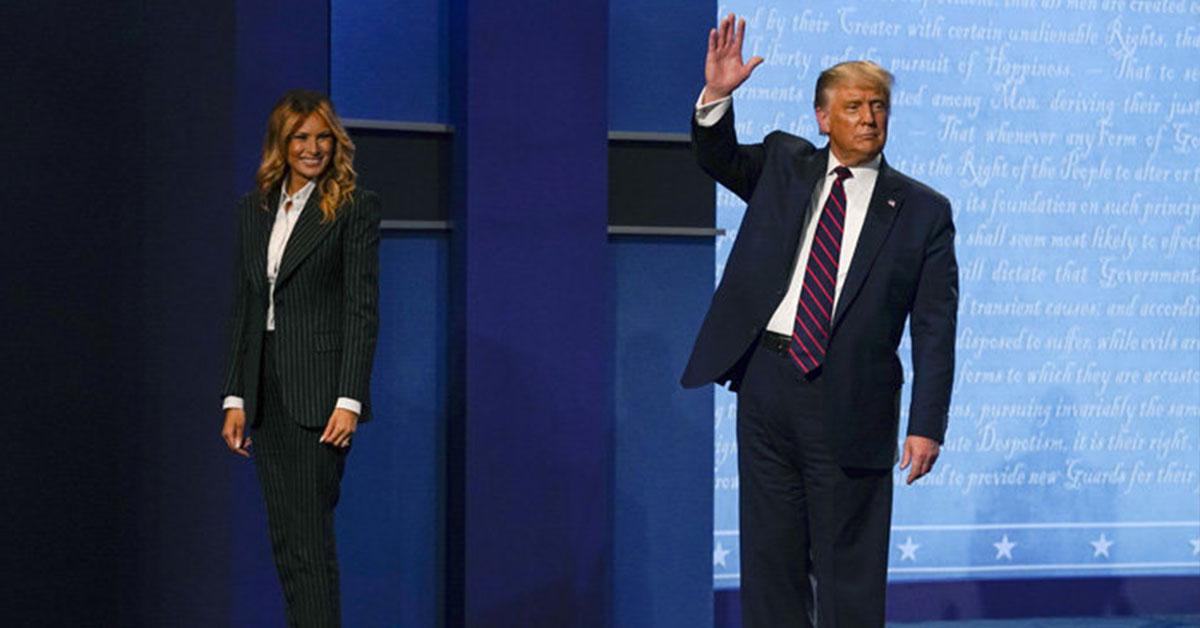 Donald Trumo a manželka Melanie