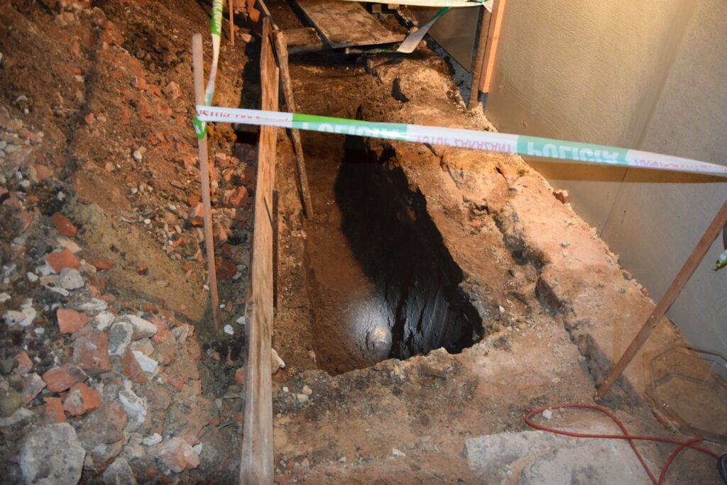 Miesto v Gbeloch pri Trnave, kde sa našli pozostatky