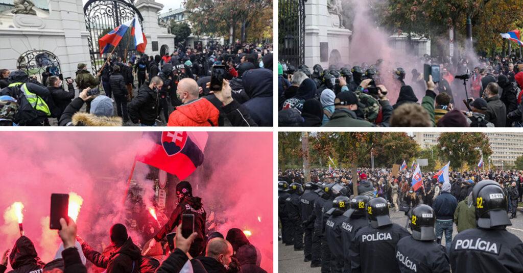 Demonštrácia v Bratislave proti opatreniam