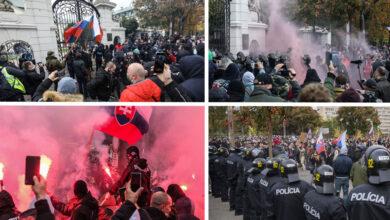 Photo of ĽUDIA demonštrovali v BRATISLAVE proti opatreniam