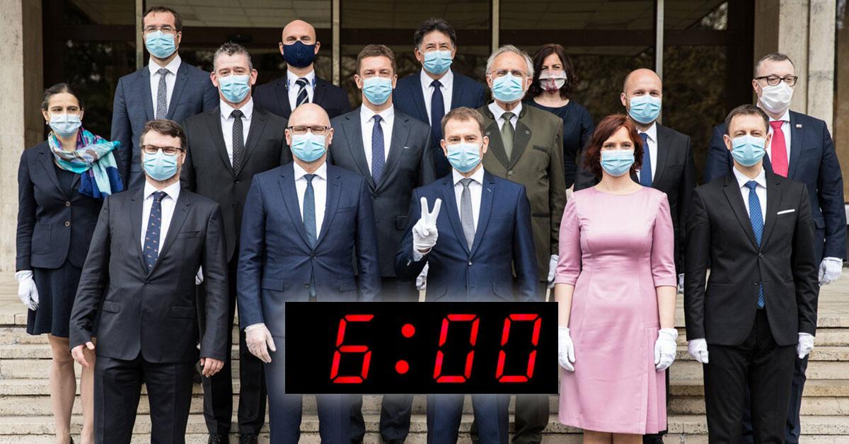 Ranné vstávanie vlády o 6:00
