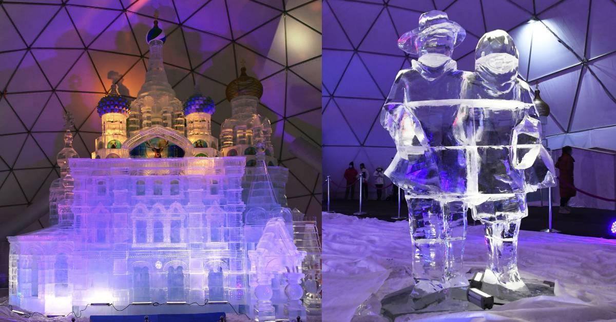 Ľadový dóm vo Vysokých Tatrách na Hrebienku 2020