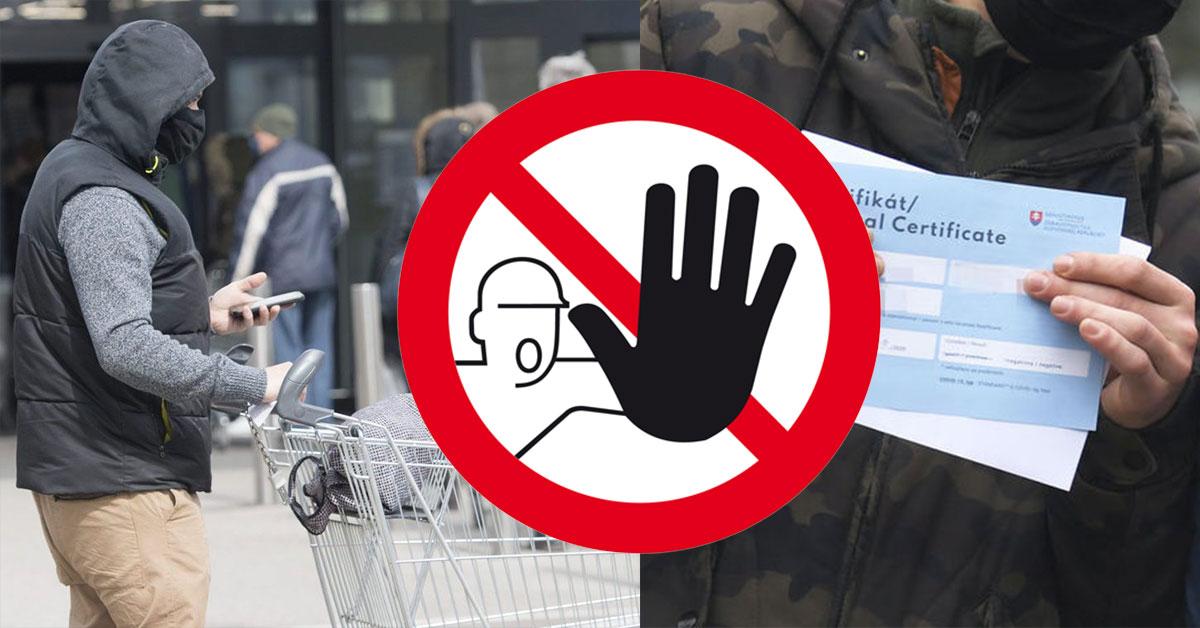 Zákaz vstupu do obchodov