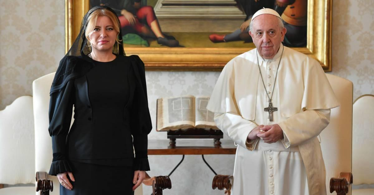 Prezidentka Zuzana Čaputová a pápež František