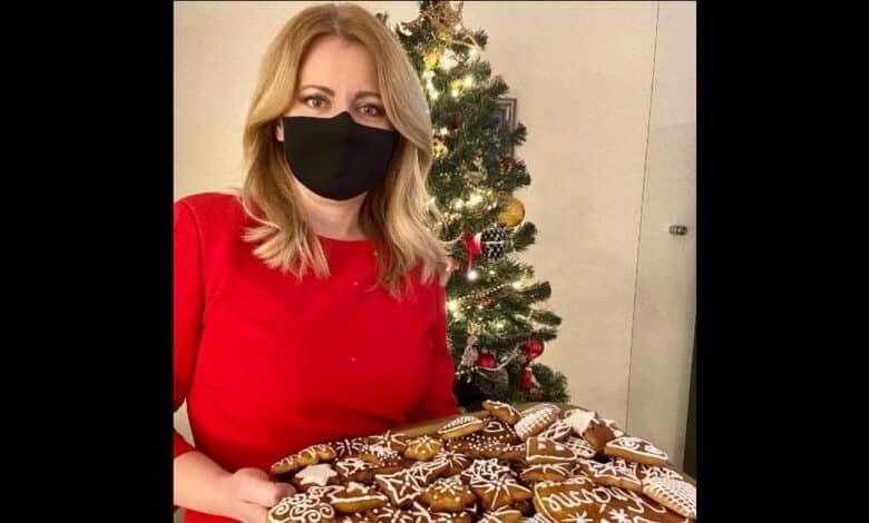 Prezidentka Zuzana Čaputová napiekla medovníky pre zdravotníkov